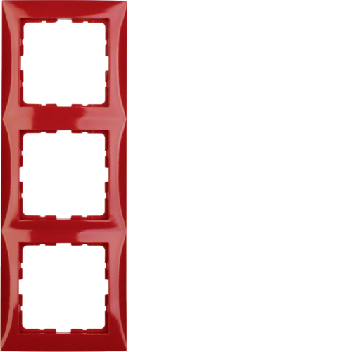 10138962 S.1 Frame 3-gang Red Glossy