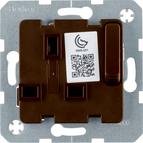 53420211 13A insert for socket outlet brown w/o L