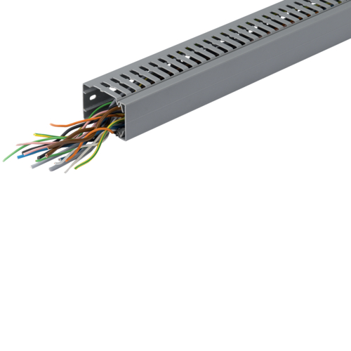 BA7A40100 slottet panel trunking BA7A 40x100, grey