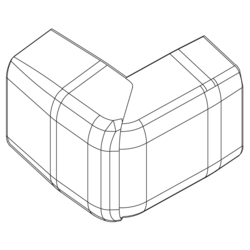 Product Drawing 20 x 52, 1 separator External corner ABS