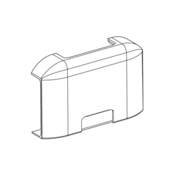 Product Drawing 13 x 52, 2 separator T-piece ABS
