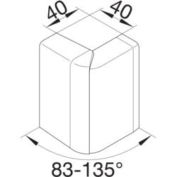 SL/ /Angulo ext/érieur SL20080/Blanc Hager tehalit