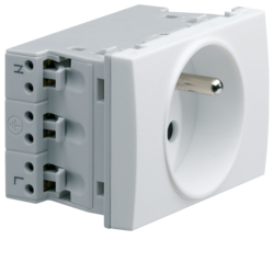 WS121 Systo Socket 2P+T 16A for trunking