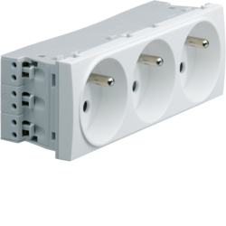 WS123 Systo Triple socket 2P+E for trunking
