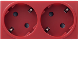 WS185 Systo Double socket Schuko Red