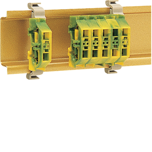 K89200 Mini DIN rail terminal 2,5mm², green