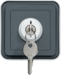 WNC036 cubyko Key SW 3 positions wall M grey