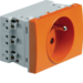 WS121E Systo Socket 2P+T 16A / trunking Orange
